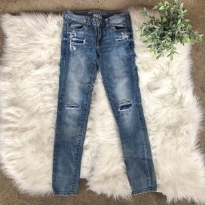American Eagle Patchwork Skinny Jegging Jeans